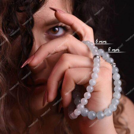 akuamarin doğal taş kadın bileklik
