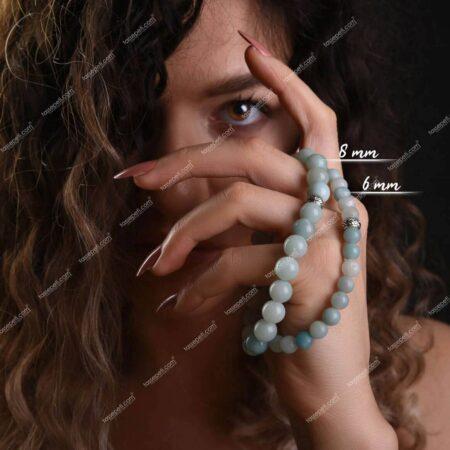 amazonit doğal taş kadın bileklik