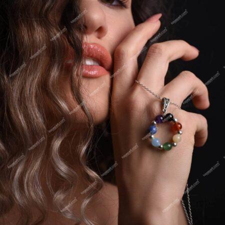 çakra doğal taş kadın kolye ucu