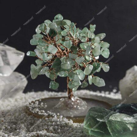 gerçek aventurin doğal taş ağaç