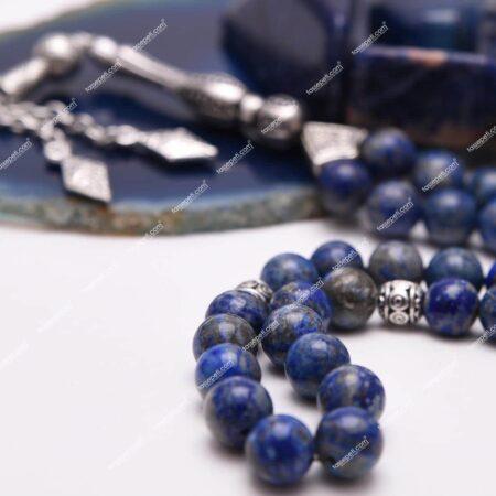 Gerçek Lapis Lazuli Doğal Taşı Tesbih