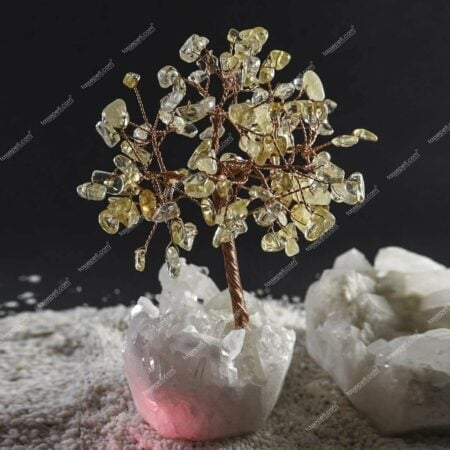 gerçek sitrin doğal taşı ağaç