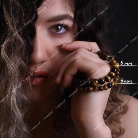 kaplan gözü doğal taş kadın bileklik