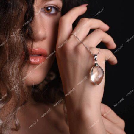 kristal kuvars kadın kolye ucu