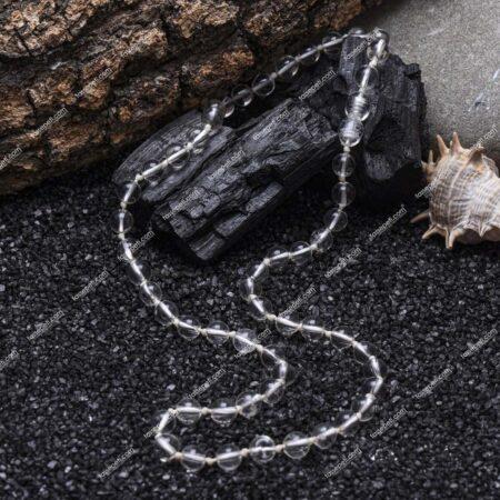 kristal kuvars doğal taş erkek kolye