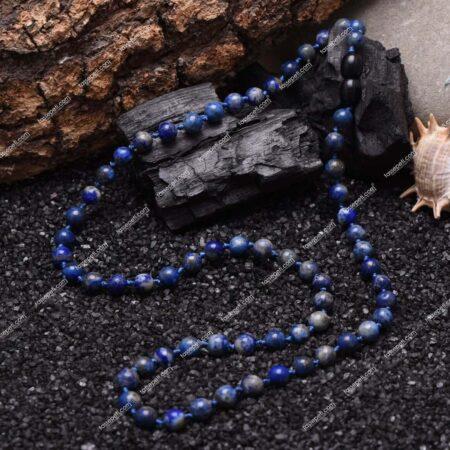 lapis lazuli doğal taş erkek kolye