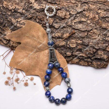 Lapis Lazuli Doğaltaşı Tesbih Model Anahtarlık