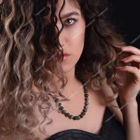 turkuaz doğal taş kadın kolye