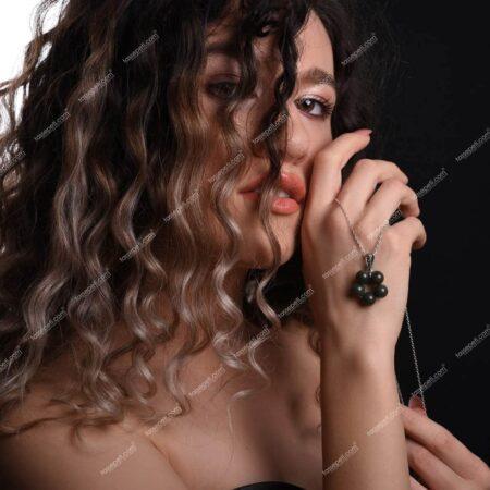 yeşim doğal taş kadın kolye ucu