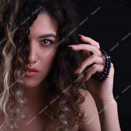 Lacivert Yıldız Doğal Taşı Kadın Bilekliği